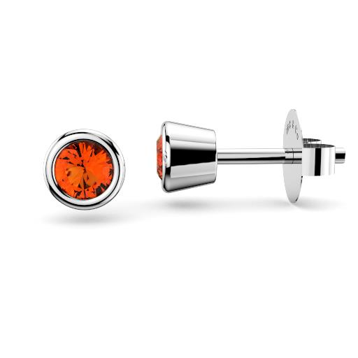 brisbane diamond company gemstone bezel stud earrings