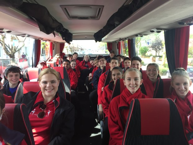 Our Anzac Day Commemoration Choir head to the Digger Memorial, Bullecourt for their first rehearsal! (Pic by Jenny)