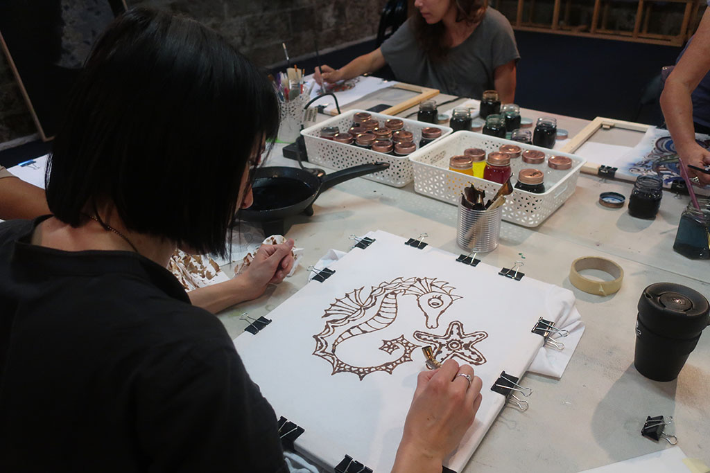 wendy fisher batik workshop brisbane
