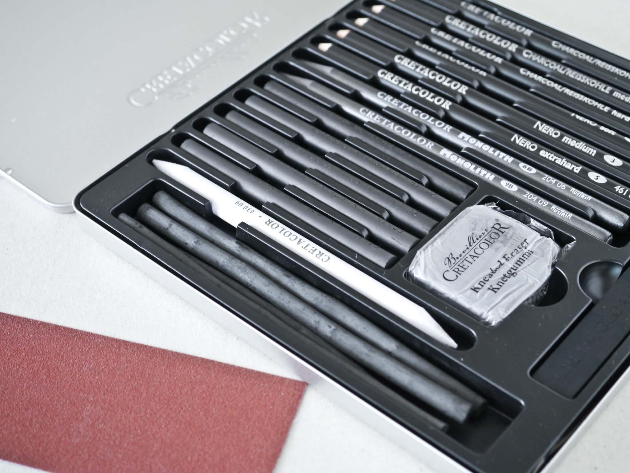 Cretacolor Black Box Charcoal Drawing Set