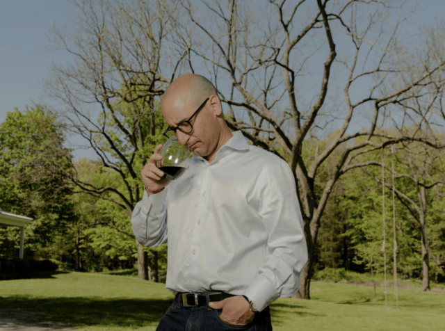 Dr. Michael Pourfar, a wine lover who lost his sense of smell with the onset of Covid-19, has gauged his slow recovery. Credit...Sasha Maslov for The New York Times