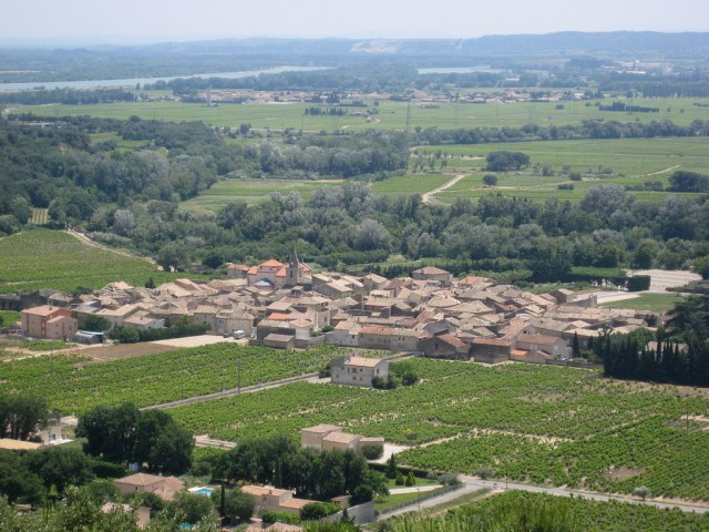 Vineyards of Chusclan in the French wine region of the Rhone Valley