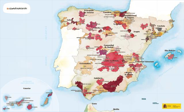 Wine Regions of Spain; courtesy foodswinesfromspain.com