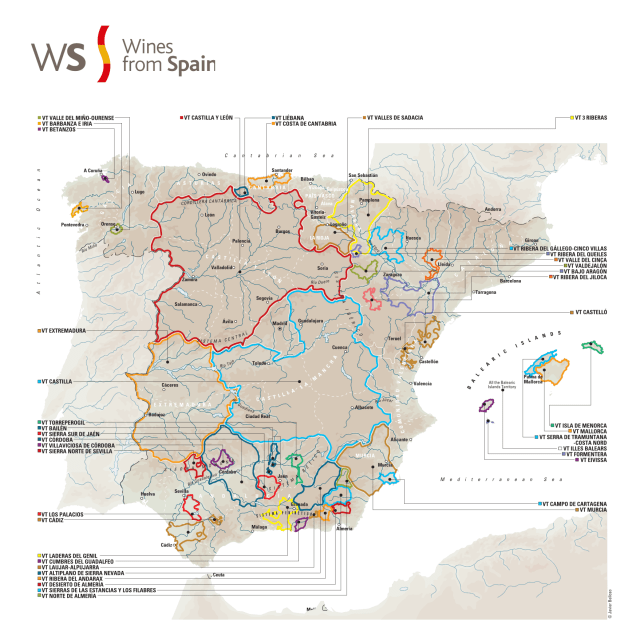 Wine from Spain with Protected Geographical Indication; courtesy winesfoodsfromspain.com