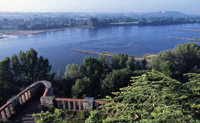 The river Loire seen from Folies-Siffait in Muscadet Coteaux de la Loire, photograph by Philippe Caharel (who also took the photo at the top of the article, another view of the Loire from Muscadet vines)