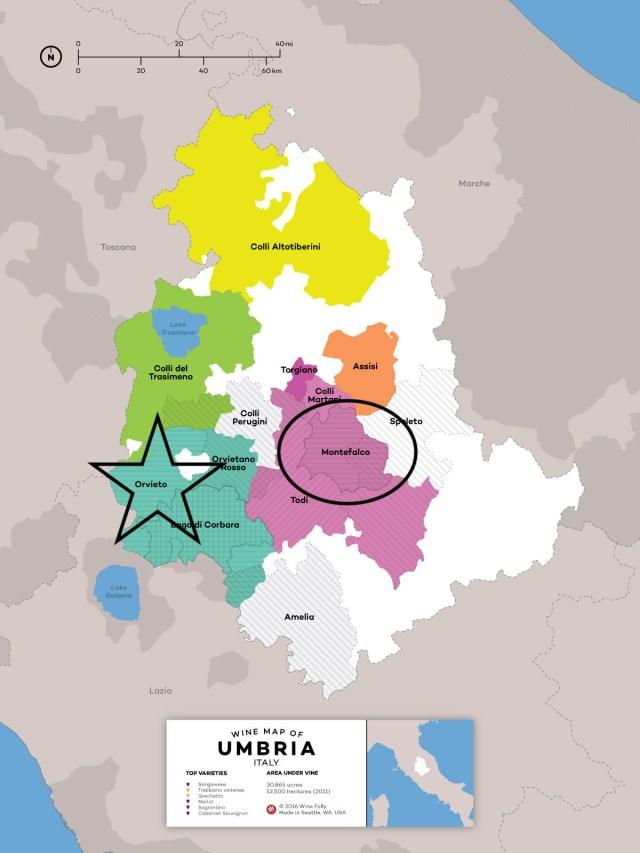 Umbria Wine Map; winefolly.com