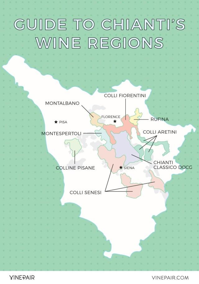 Chianti DOCG subzones; vinepair.com