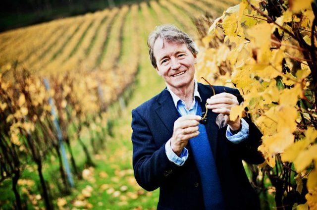 Steven Spurrier at his Bride Valley English wine estate. Credit: Thomas Skovsende / Decanter