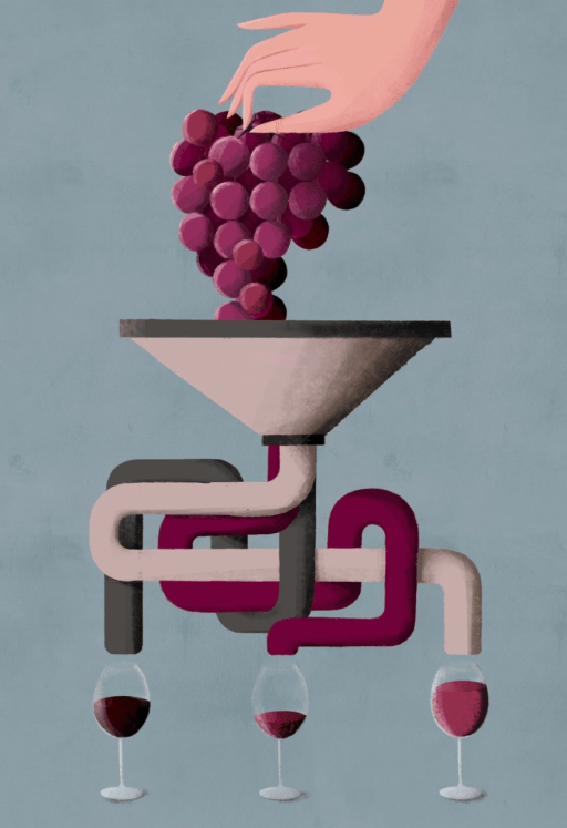 All over the grenache- and garnacha-producing world, power has made way for wines of elegance and transparency. Fans of the big wines still have plenty of options, but it's heartening to see a much richer spectrum of stylistic expressions of the grape. / Art: Pepe Serra