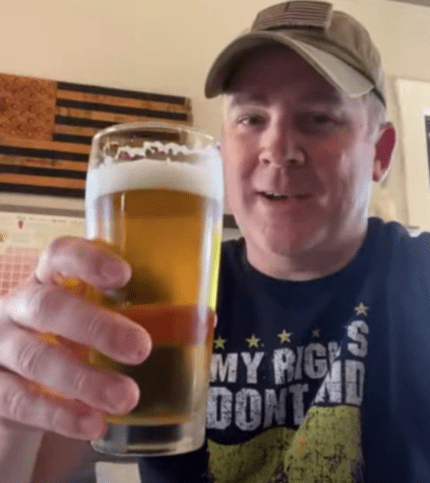 amid the statewide lockdown, Kurt Hixenbaugh urged people to visit his wine and beer bar and enjoy its new beer, named Defiance, indoors.