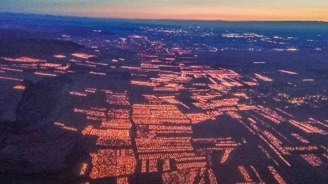 VD Cote d'Or frost candles aerial view