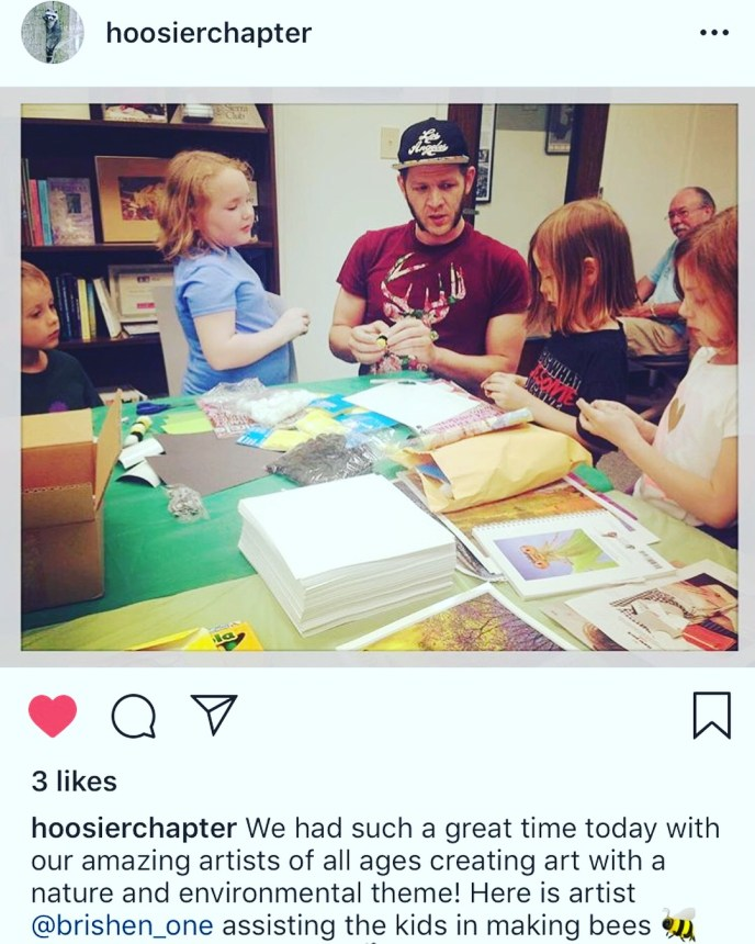 I co-led a kids art workshop for the Sierra Club Indiana chapter