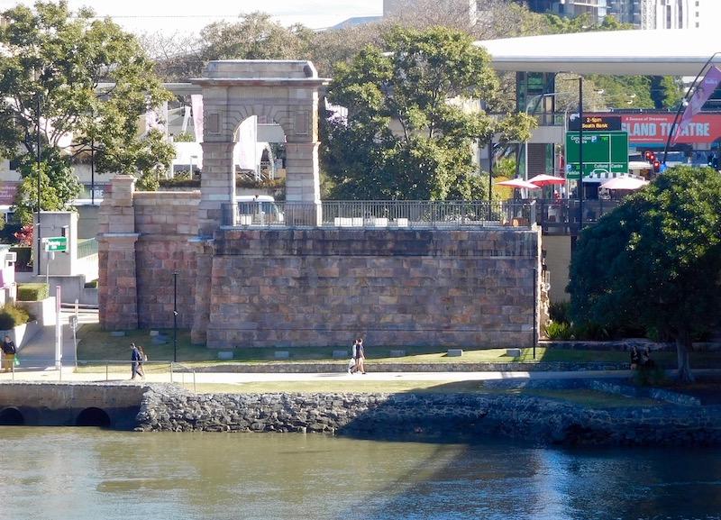 Victoria Bridge abutment