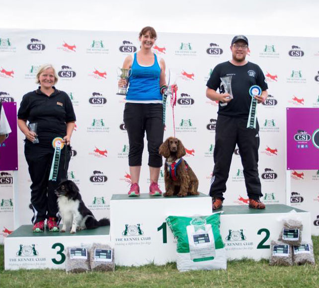 Winning Nations cup at Kennel club international agility festival