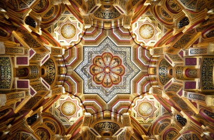 Gold ceiling, Cardiff Castle by Paul Shaw
