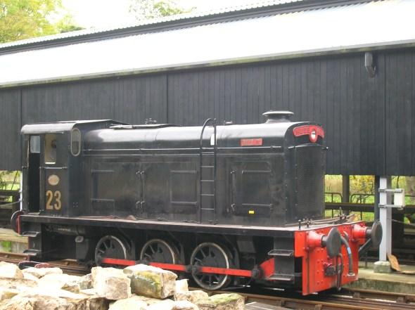 ex-PBA No.23 'Merlin' (D.2003) on the KWVR (Helena via Wikipedia)