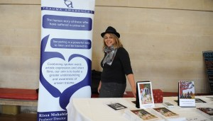 Rissa Mohabir with trama awareness stall at Bristol HMD