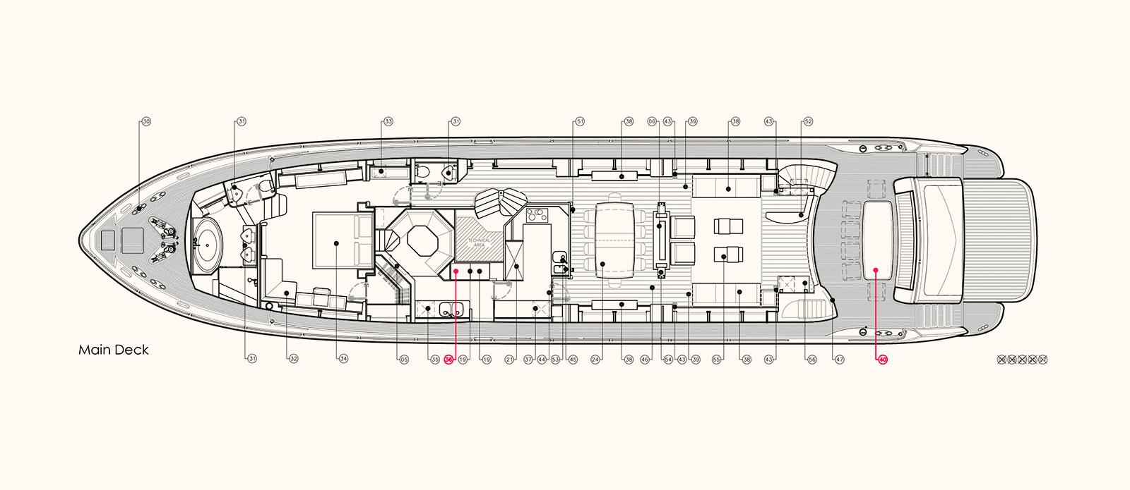 Emoji - Main Deck Floor Plan
