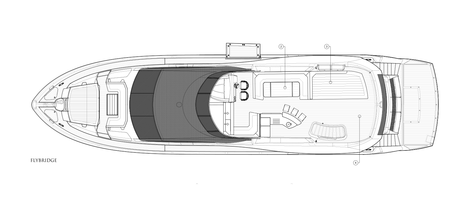 Sunseeker 86 Yacht - Flybridge - Layout