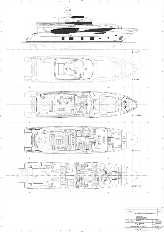 Benetti-Delfino-95-General-Arrangement-Diagram-Layout