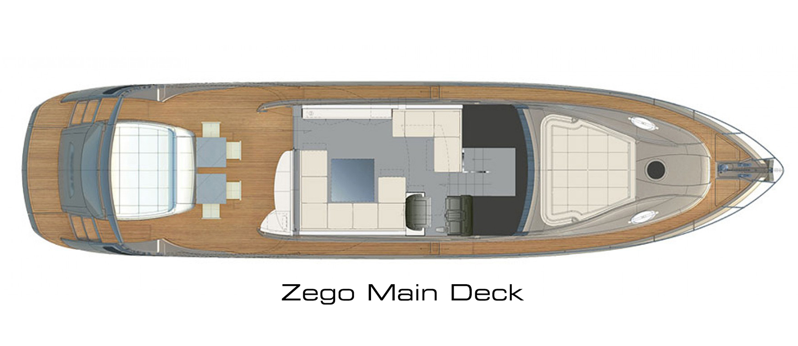 Pershing 70 Main Deck