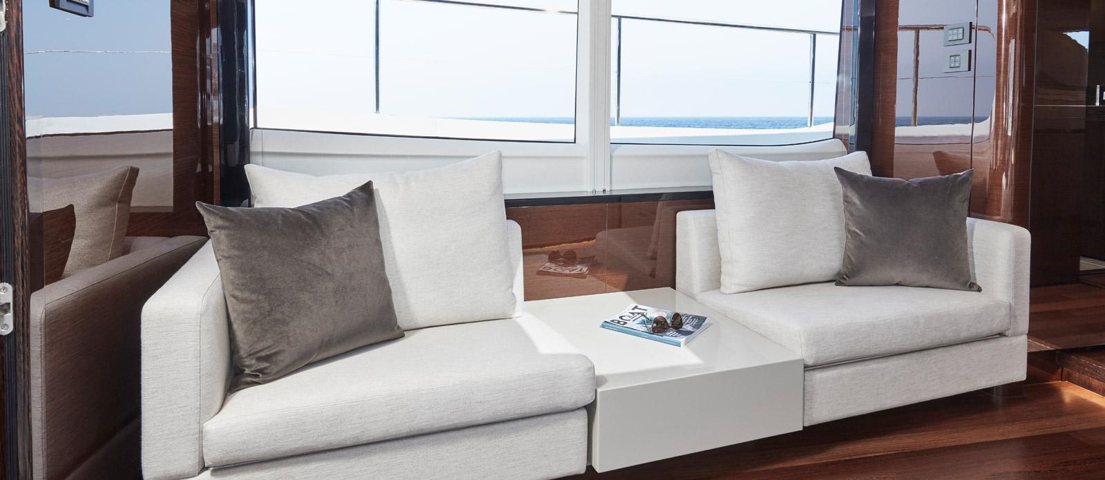 Princess 30 Metre Yacht Bandazul - Master Cabin Sofa