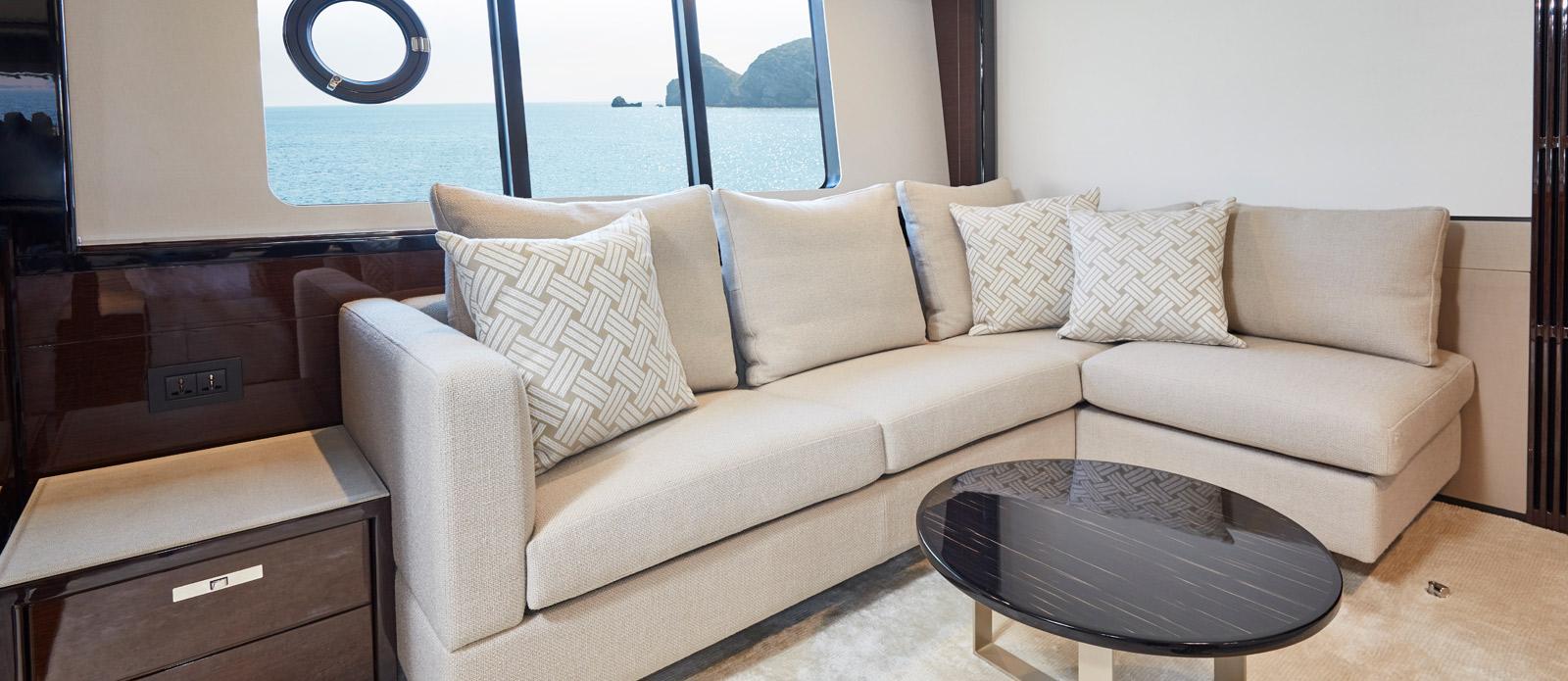 Princess 30 Metre Yacht Bandazul - VIP Cabin Sofa