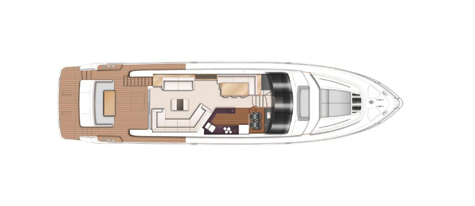 Princess 72 Blonde Moment Main Deck Layout GA