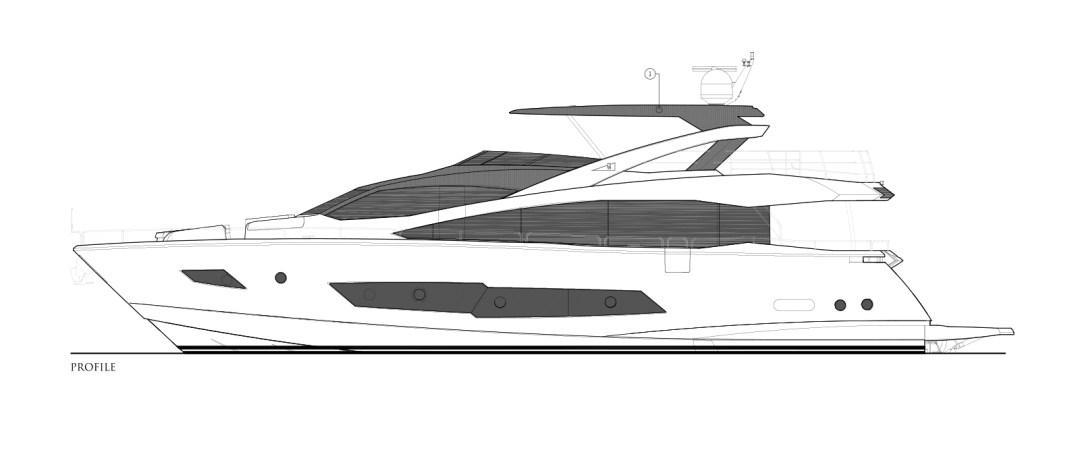 MiBowt Sunseeker 86 Yacht Side-Profile