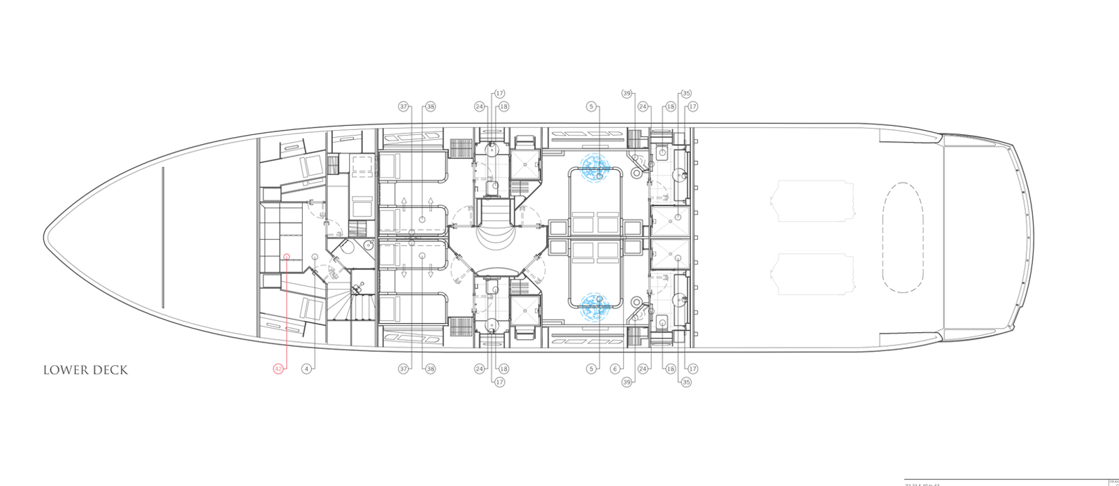 Sunseeker-30-Metre-Yacht-Tuppence-Lower-Deck-Layout