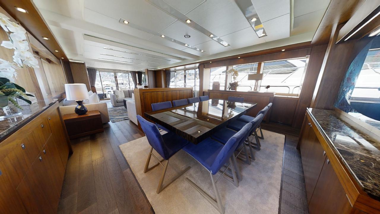Sunseeker-115-Sport-Yacht-Zulu-Refit-Dining-Area-1