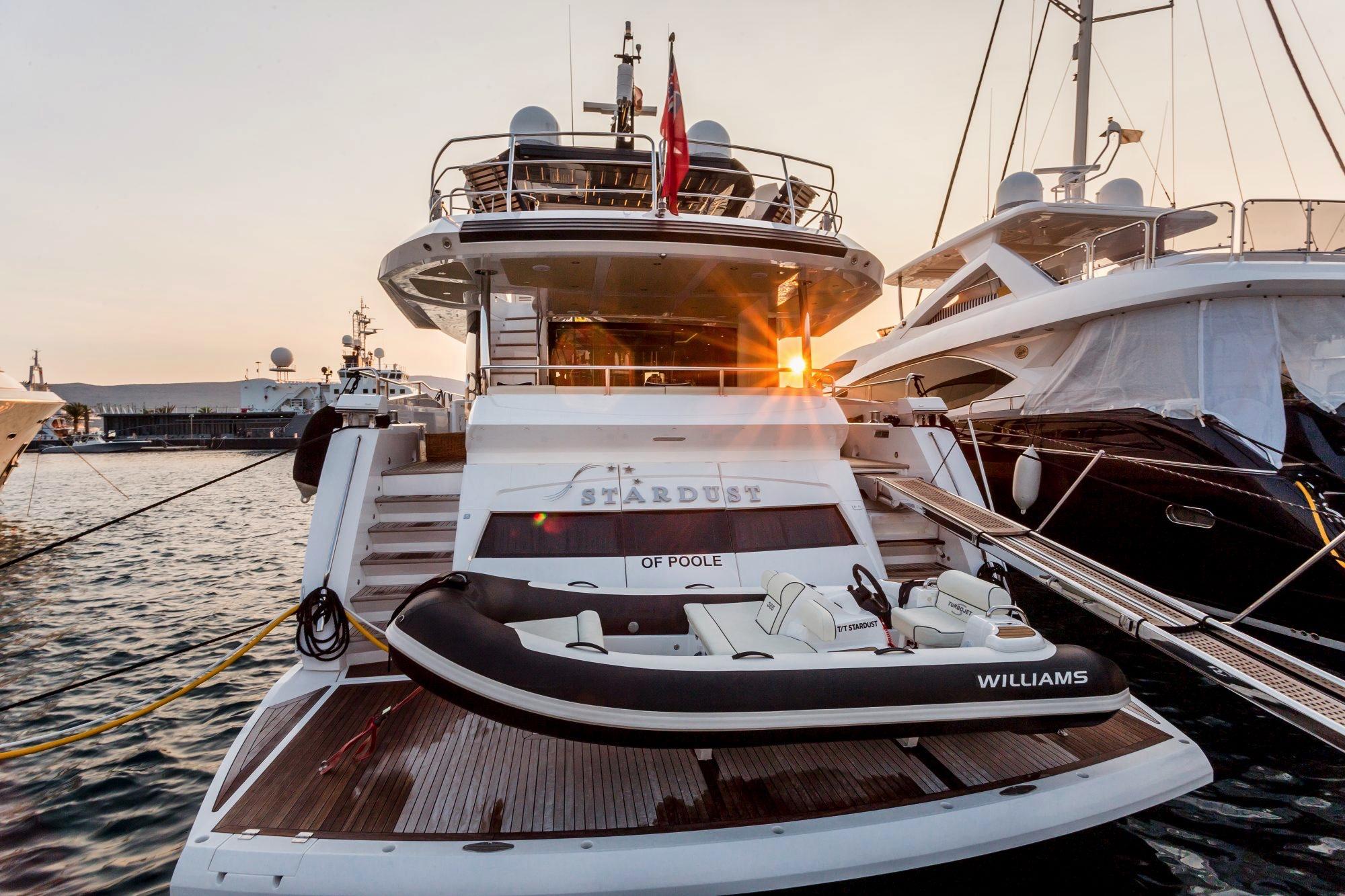 Sunseeker 86 Yacht - Stardust of Poole - Stern View