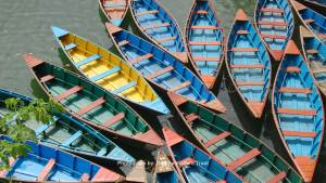 Boats at Fewa Taal