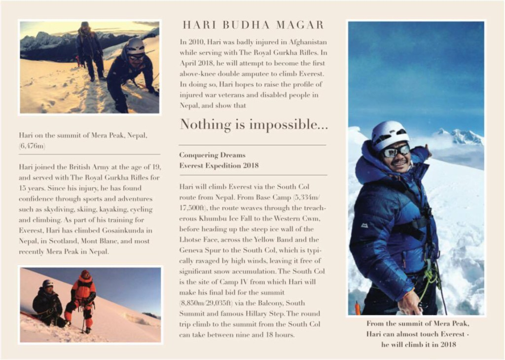 Conquering Dreams Everest Expedition 2018 Flyer 2
