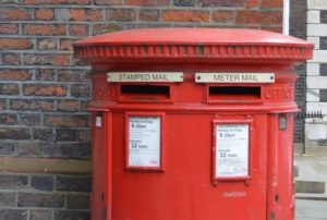 red London letter boxes