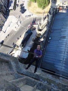 Jim McPhee - Bath Abbey Tower abseiling