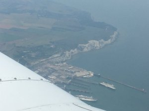 John and Tanya Firth - on a piper light aircraft exploring Kent by air