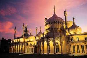 Royal Pavilion at sunset, Brighton, England