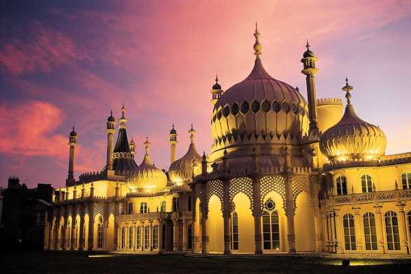 Royal Pavilion at sunset, Brighton, England