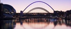 The Tyne Bridge and The Gateshead Millennium Bridge by night
