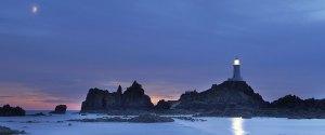 Corbiere Lighthouse by night Jersey