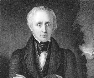 Portrait drawing of William Wordsworth