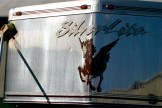 Agitating the Silver BritePlus MX on the stainless steel cap of the aluminum Silverlite horse trailer