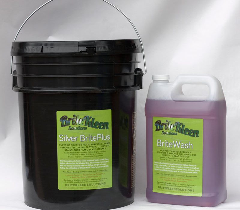 Large combo with five gallons Silver BritePlus and one gallon BriteWash