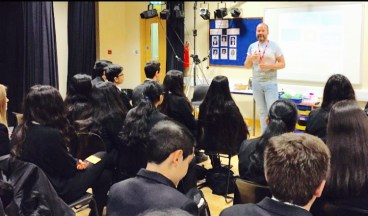 Talking to year 9 and 10 students in Hounslow with Diversity Role Models