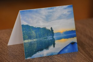 Blue Lake: Morning on Devine Lake Greeting Card by BritHikesOntario