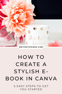 How to create an e-book in canva