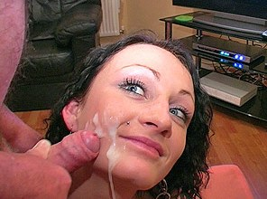 Single Mum Cassie takes thick loads to the face