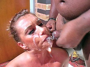 Janca wanks for crowd with 20+ loads on her face