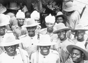 Indian soldiers with West African trainees